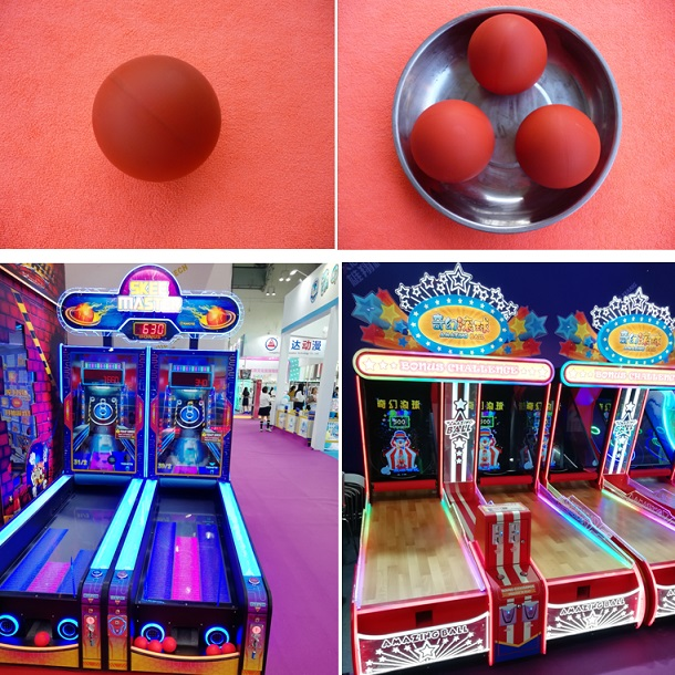 Game machine rolling ball